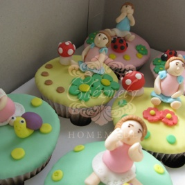 Little Girl character cupcake set