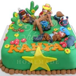 Cowboys theme birthday cake