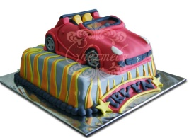 Sport car birthday cake