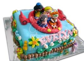 Little Einstein theme birthday cake