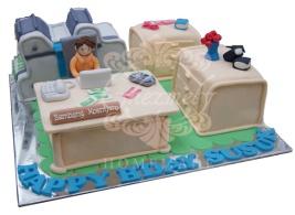 Printing Agency theme birthday cake