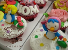 Pororo character cupcakes