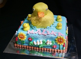Rubber Ducky birthday cake