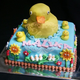 Rubber Ducky birthday cake