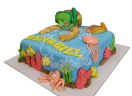 Snorkeling Twin birthday cake
