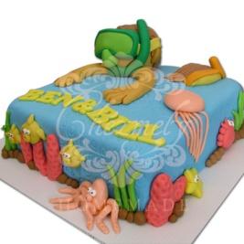 Snorkeling Twin birthday cake