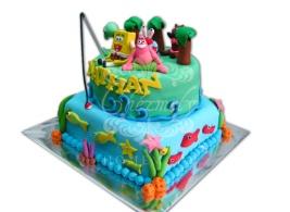 Sopnge Bob theme birthday cake