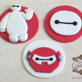 Big Hero 6 cupcake topper set