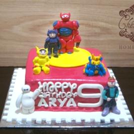 Big Hero 6 character birthday cake