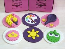 Rapunzel cupcake topper set
