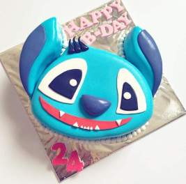 Stich Character Birthday Cake